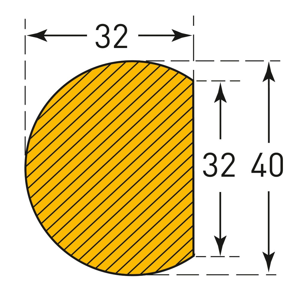 Semi-Circular 40/32 (Magnetic)